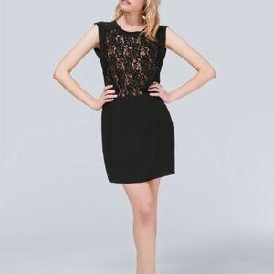 ARITZIA WILFRED Silk Lace Black Sablons Dress
